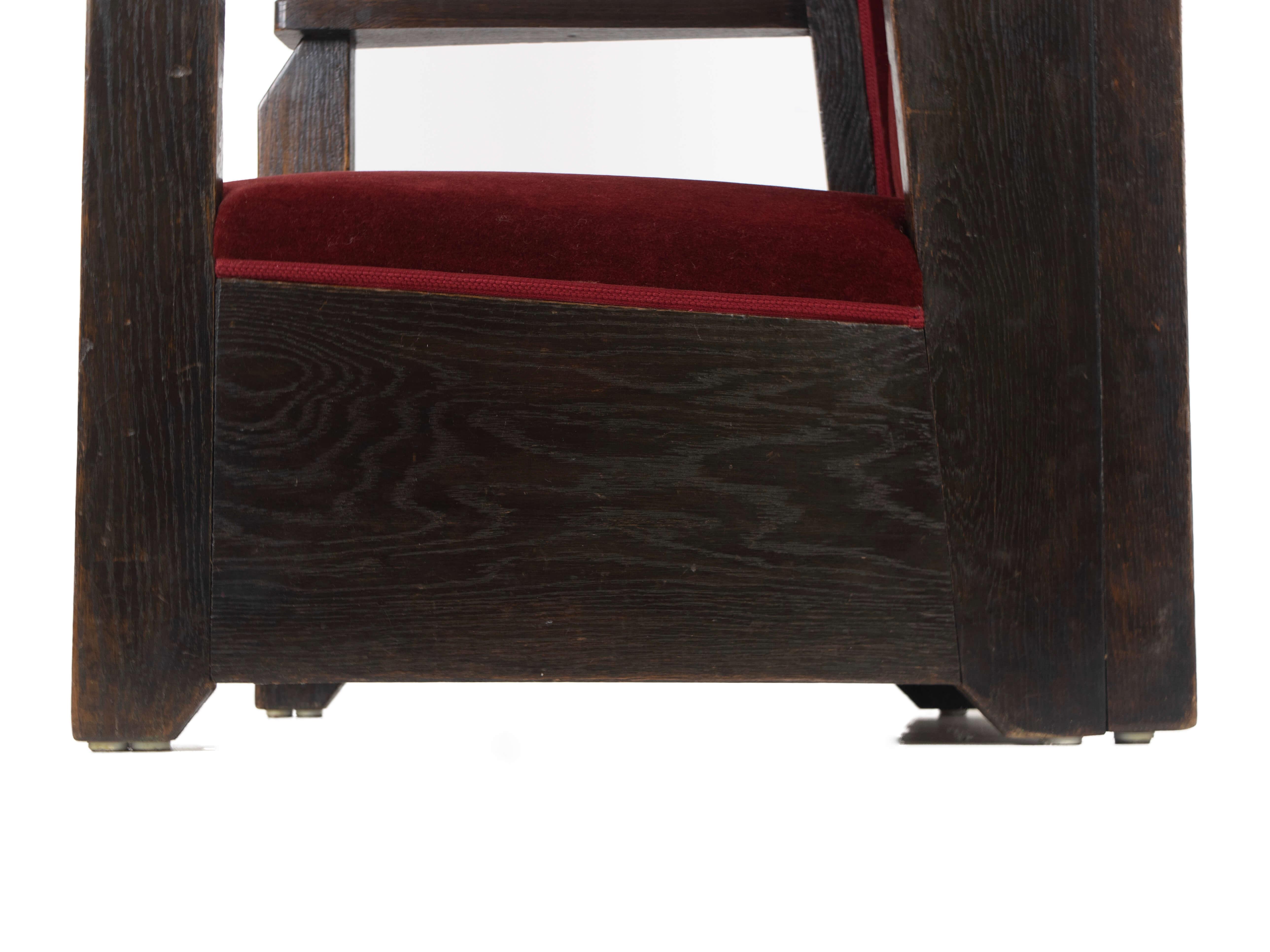 Detail seating hendrik Wouda chair