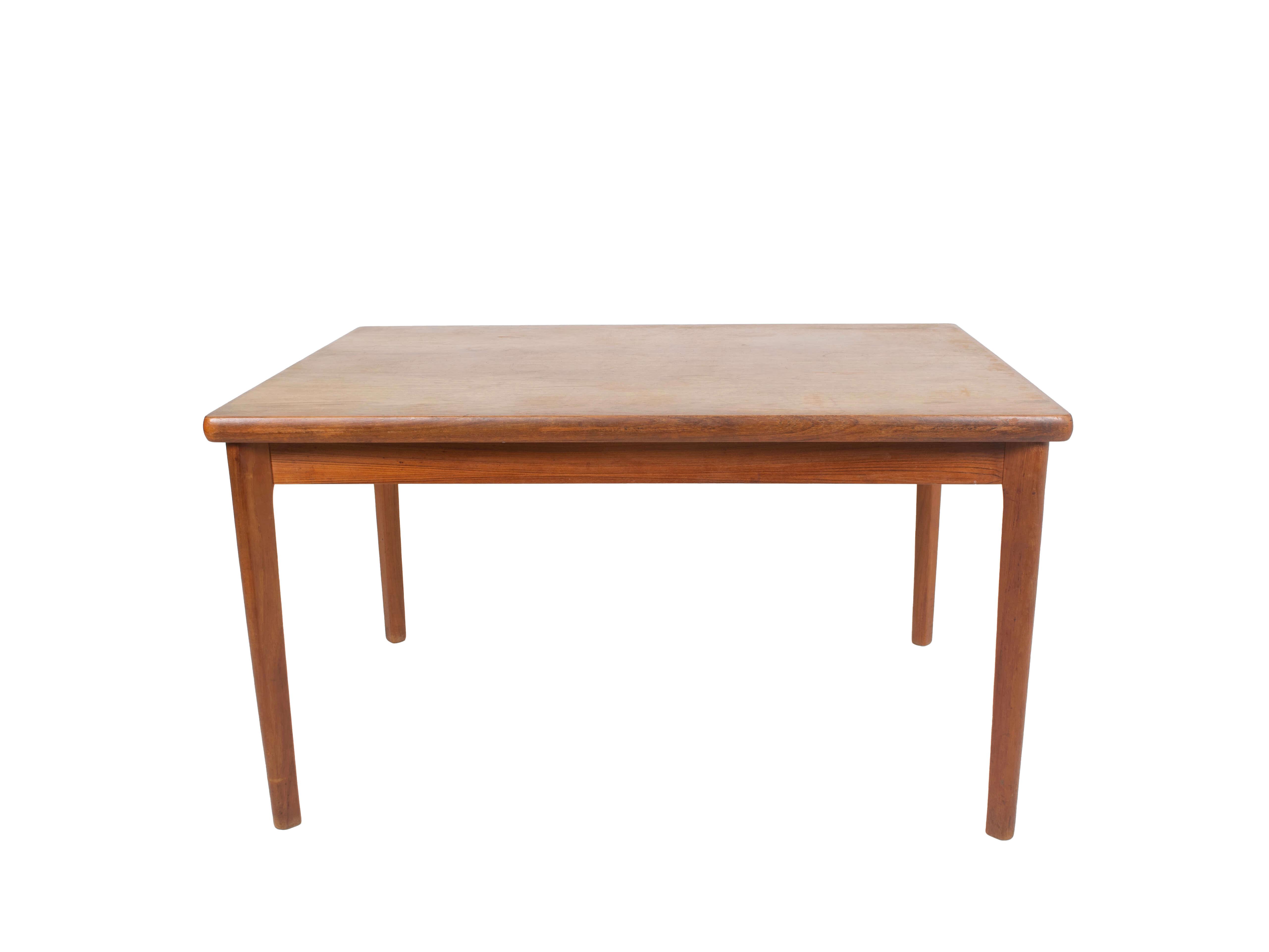 Extendable Teak Dining Table by Henning Kjaernulf, Denmark 1960s