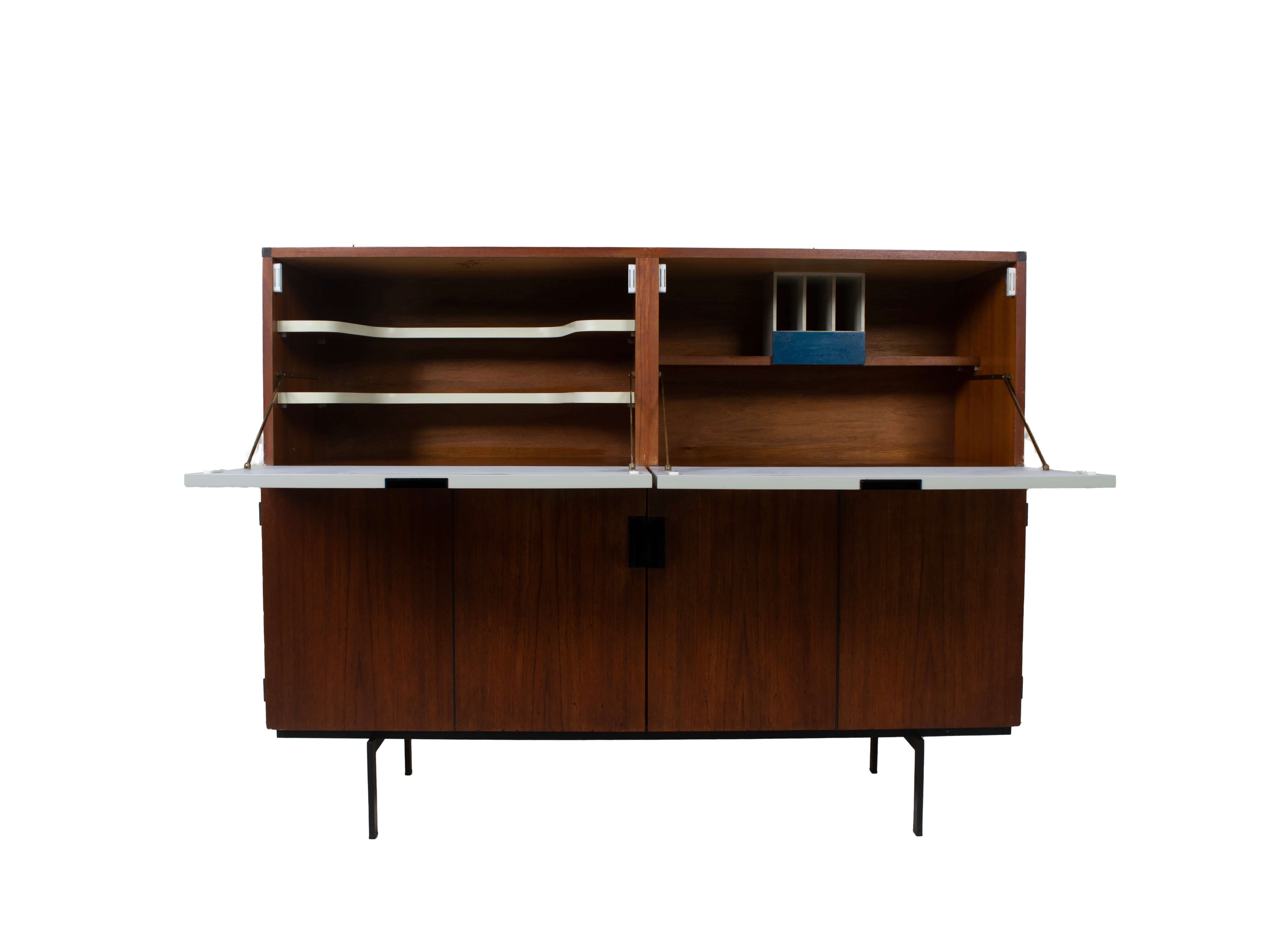 Inside Cees Braakman Pastoe Cabinet from the Japanese Series CU-07,  The Netherlands 1960s