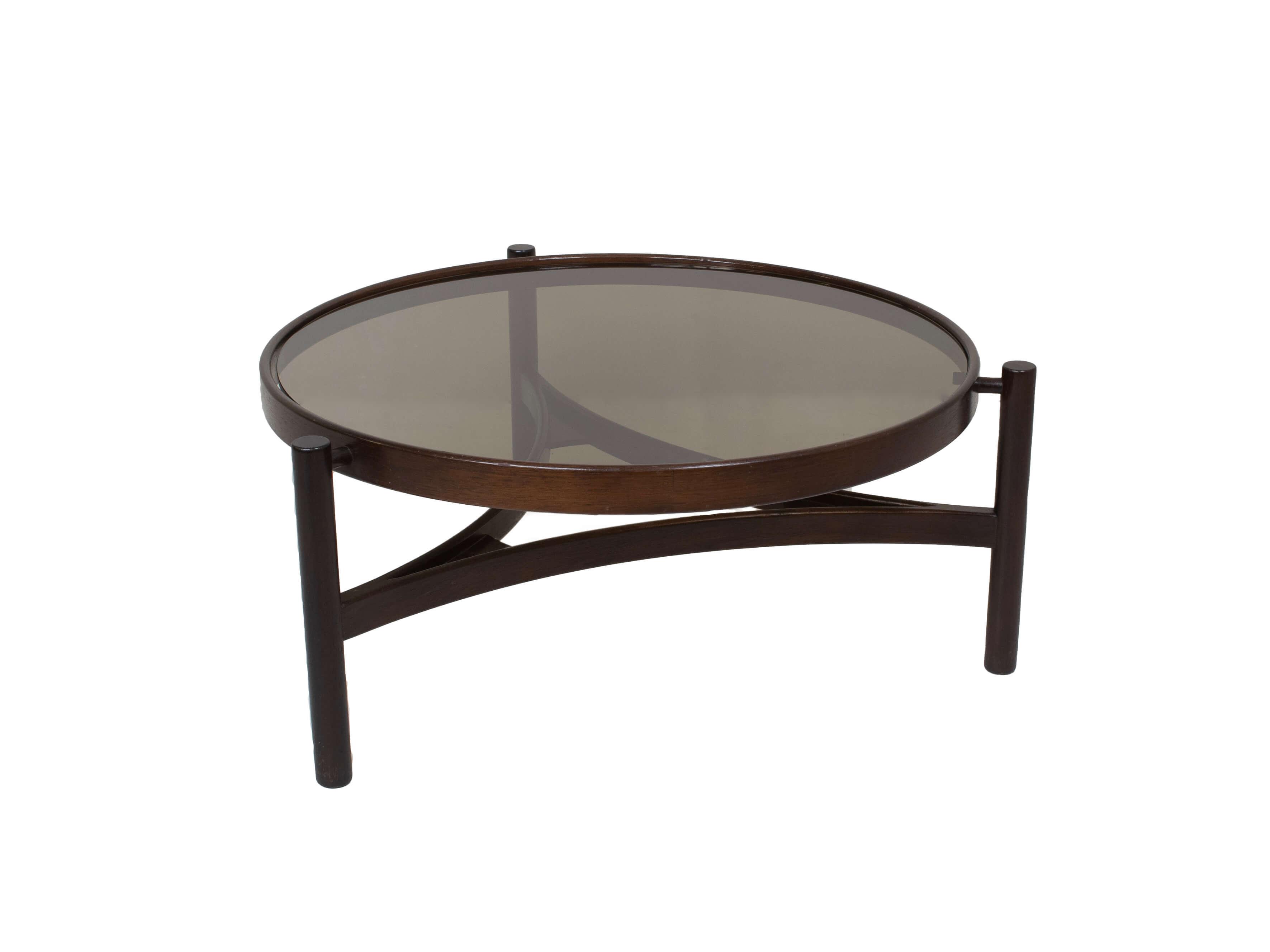 Round Italian Modern Coffee Table Model 775 by Gianfranco Frattini