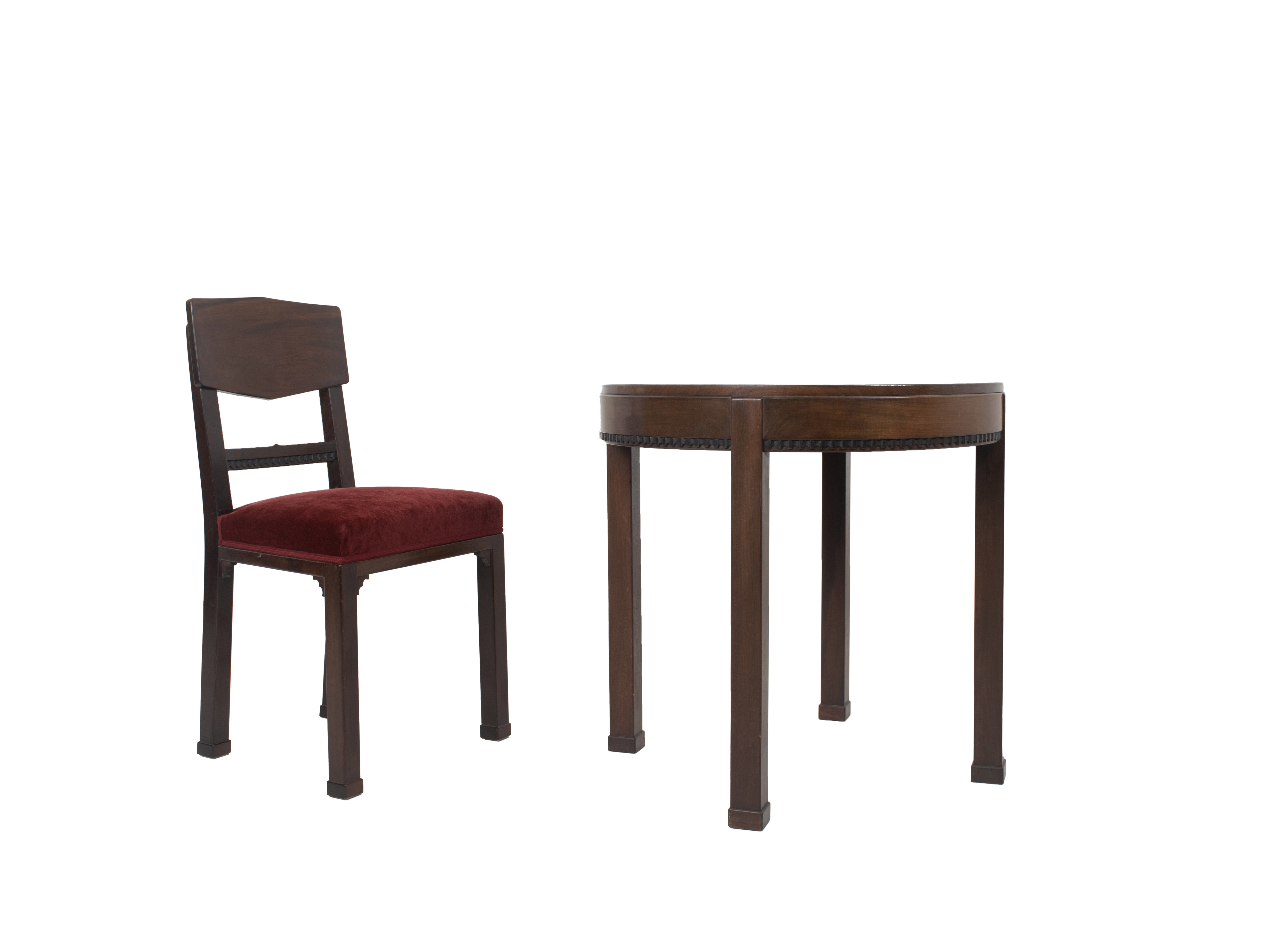 Amsterdam school table and chair