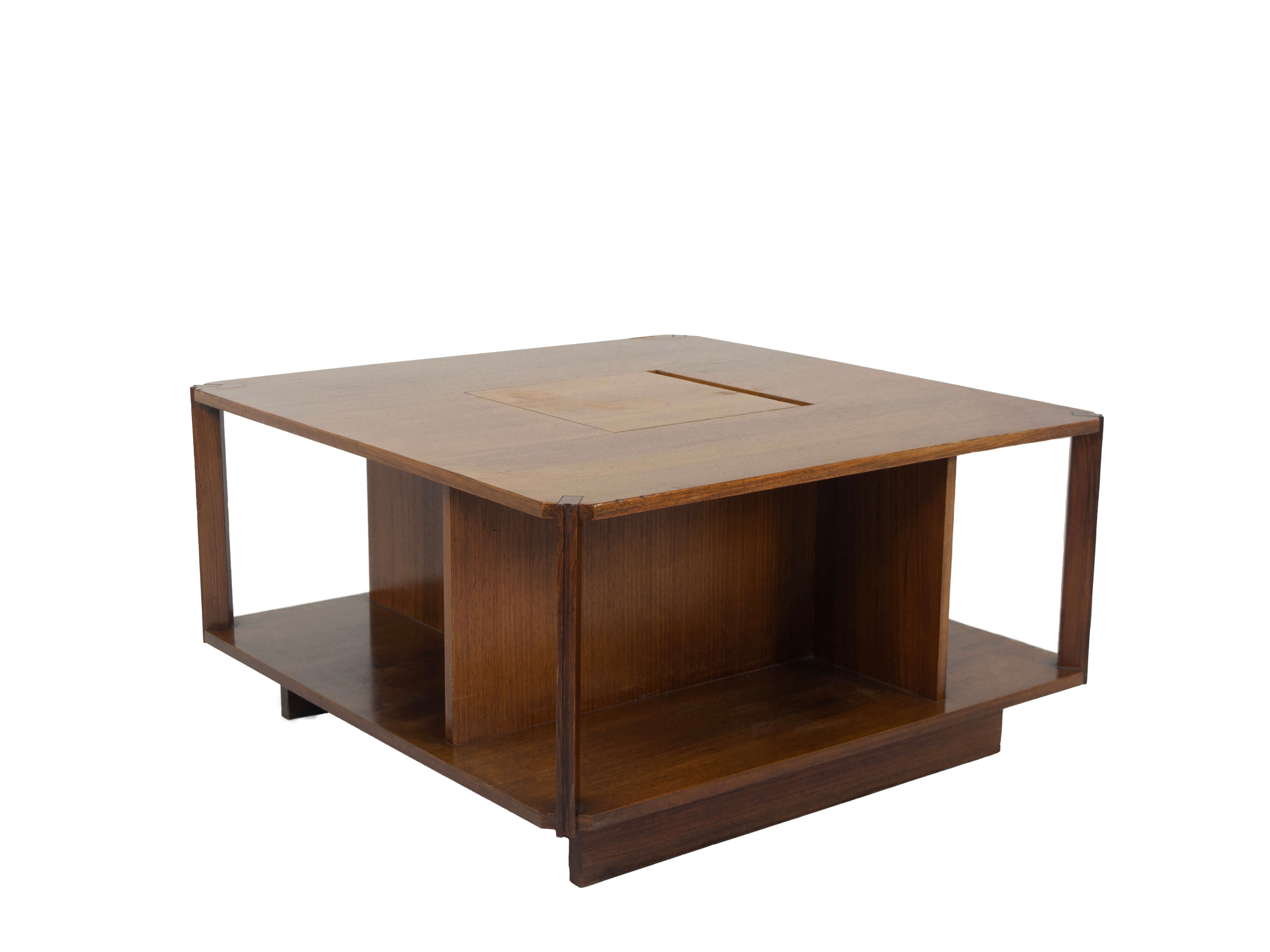 Marco Zanuso Square Bar Table for Arflex, Italy 1965