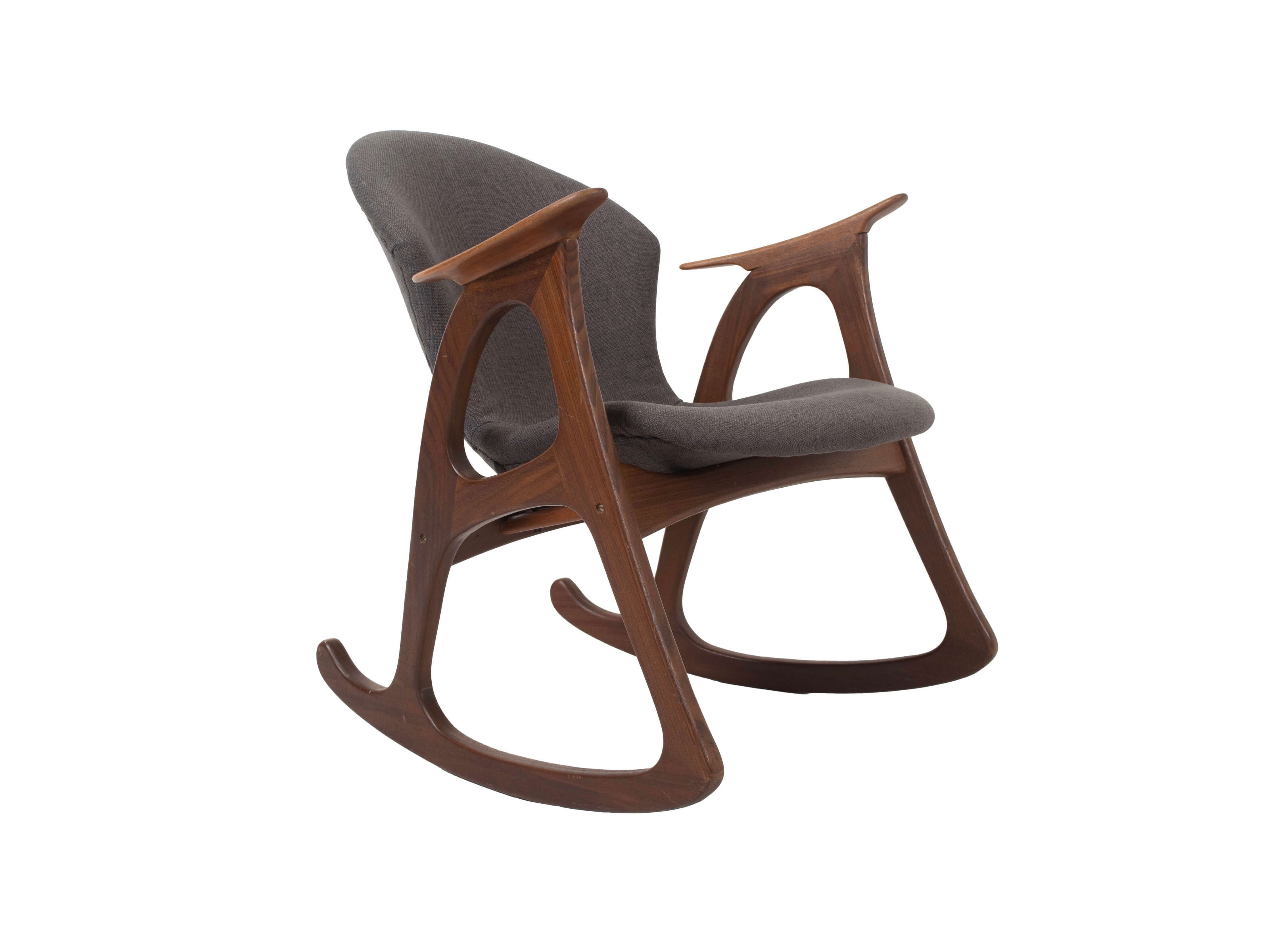 Aage Christiansen Rocking Chair for Erhardsen & Andersen, Denmark 1960s