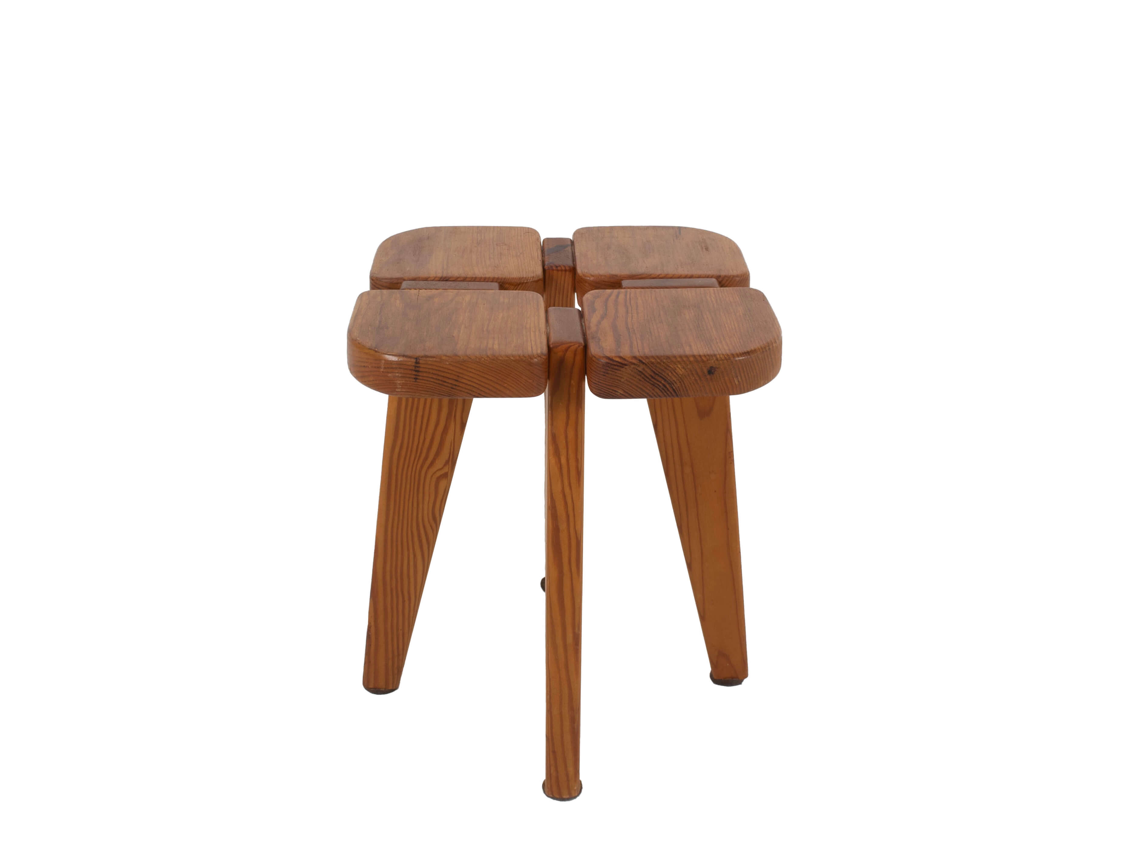 Stool in Pine by Lisa Johansson-Pape, Model Apila, for Stockmann Oy, Finland 1970s