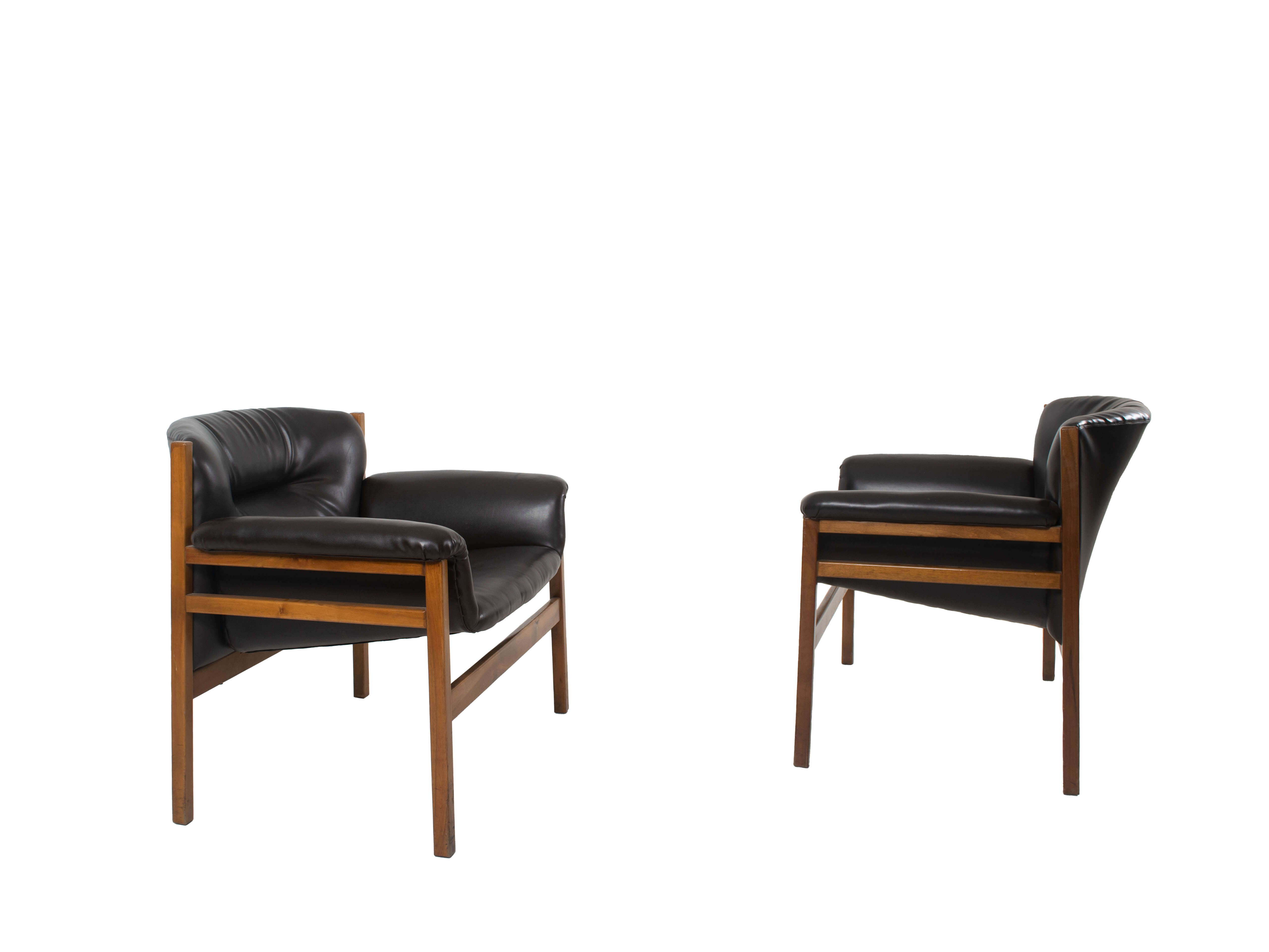 Set of Two Armchairs in the Style of Tito Agnoli, 1960s