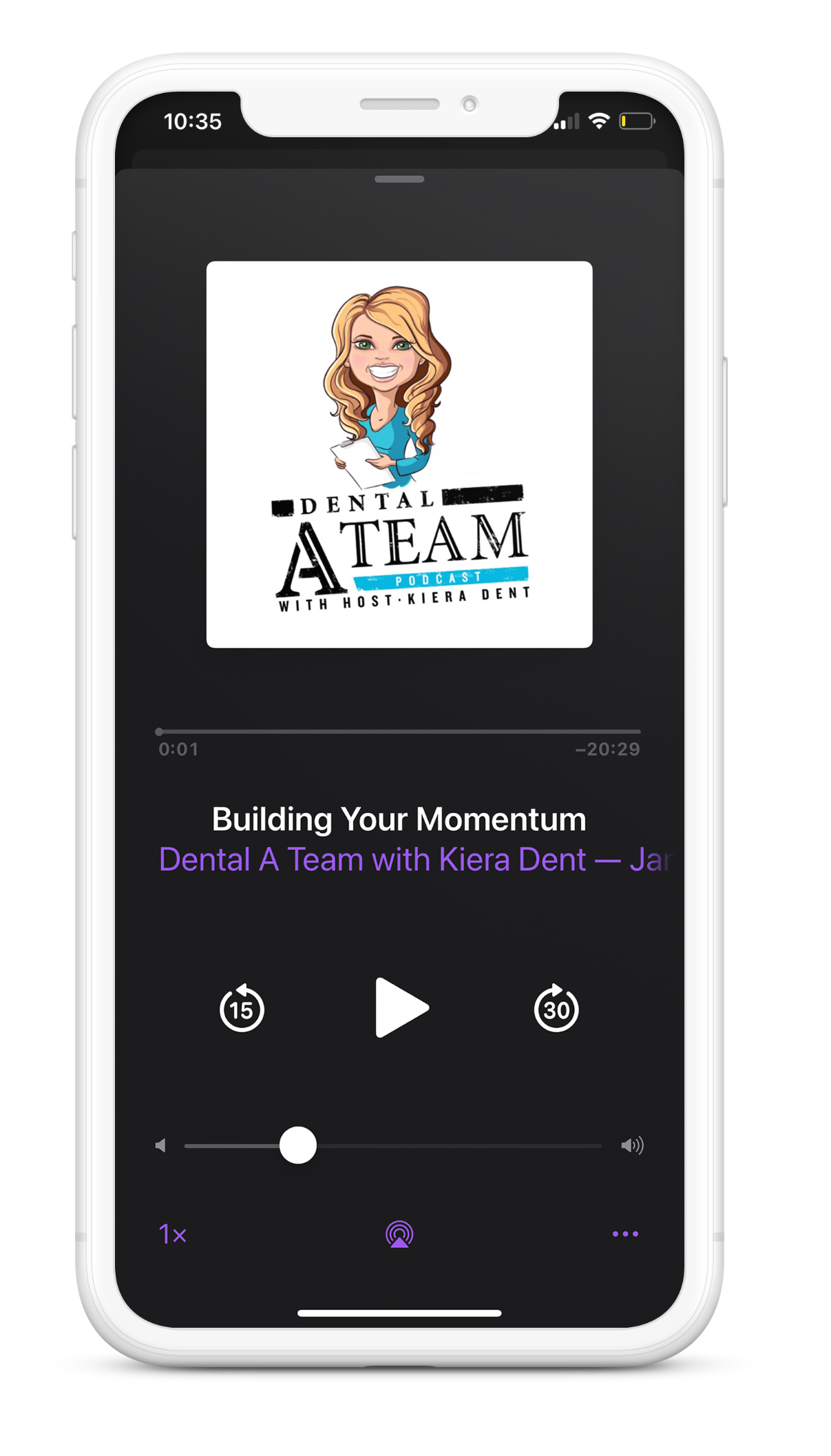 iPhone Podcast Mockup
