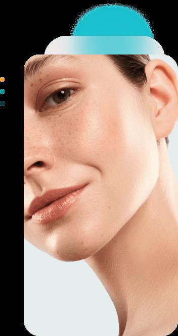 beautiful woman skin