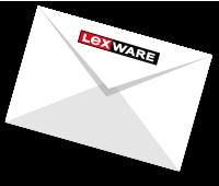 Briefumschlag mit Lexware-Logo