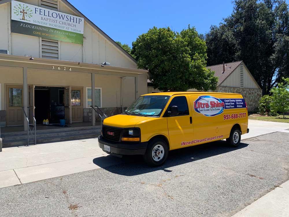 Ultra Shine Carpet & Tile Cleaning outside of Fellowship Baptist Church