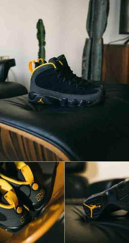 Air Jordan 9 University Gold shoes