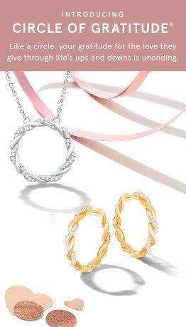 Circle of Gratitute collection necklace and rings