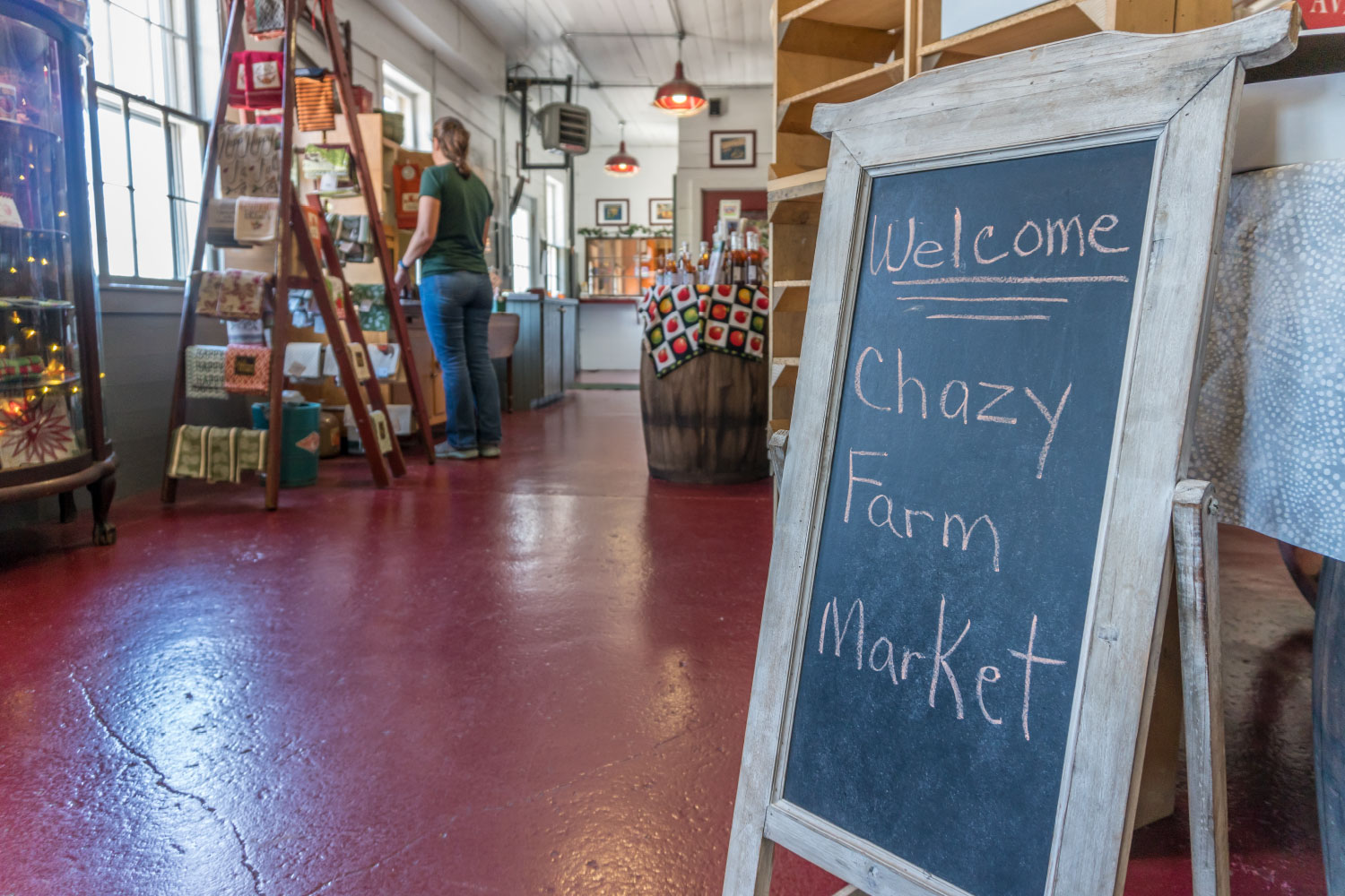 Chazy orchards store inside.