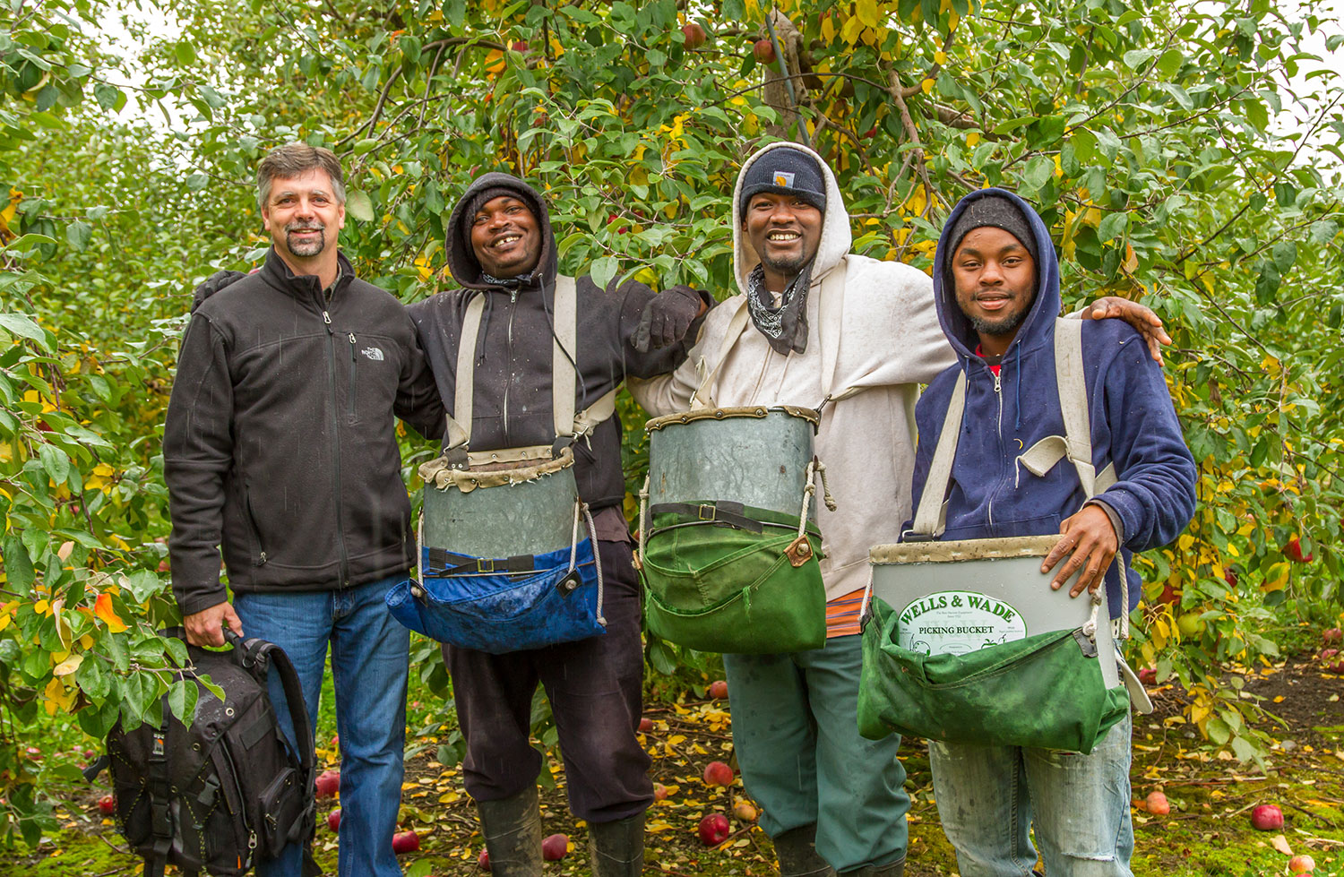 Orchard workers