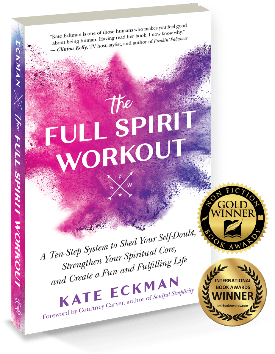 The Full Spirit Workout book cover with Nonfiction Book Awards Gold Winner and International Book Awards Winner badges