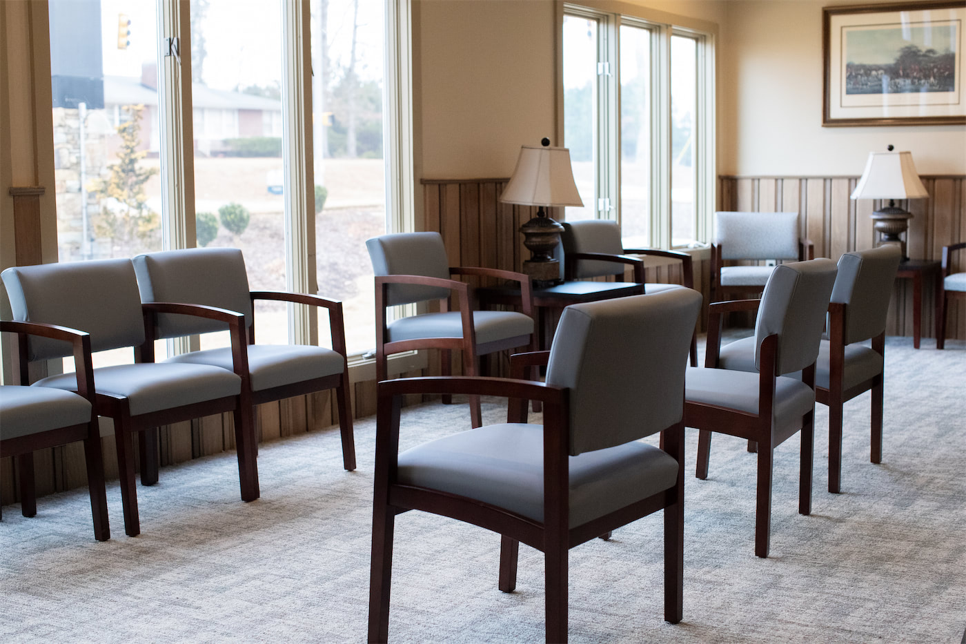 Chairs in the lobby area