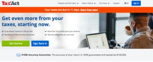 TaxAct Website