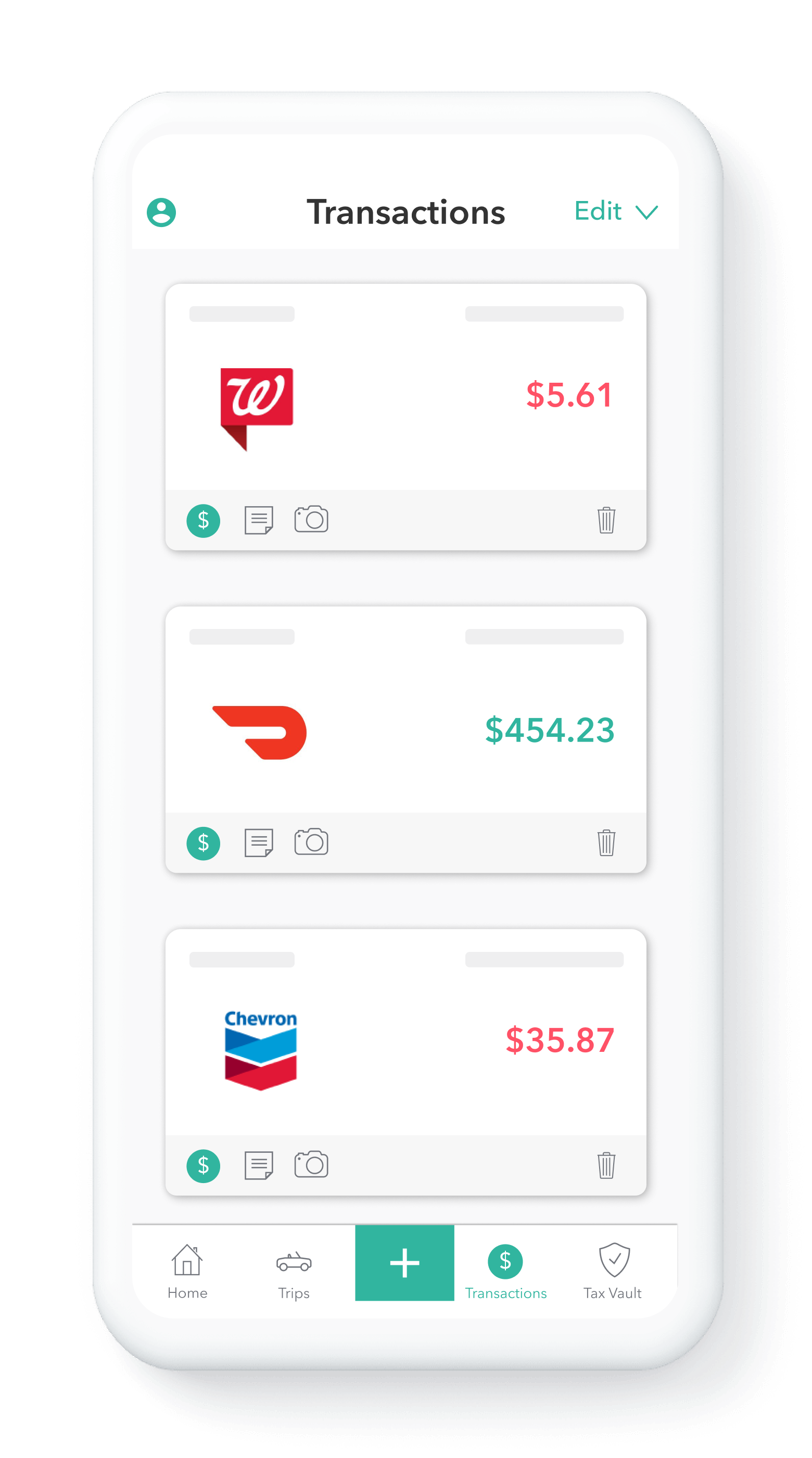 Everlance top expense tracking app