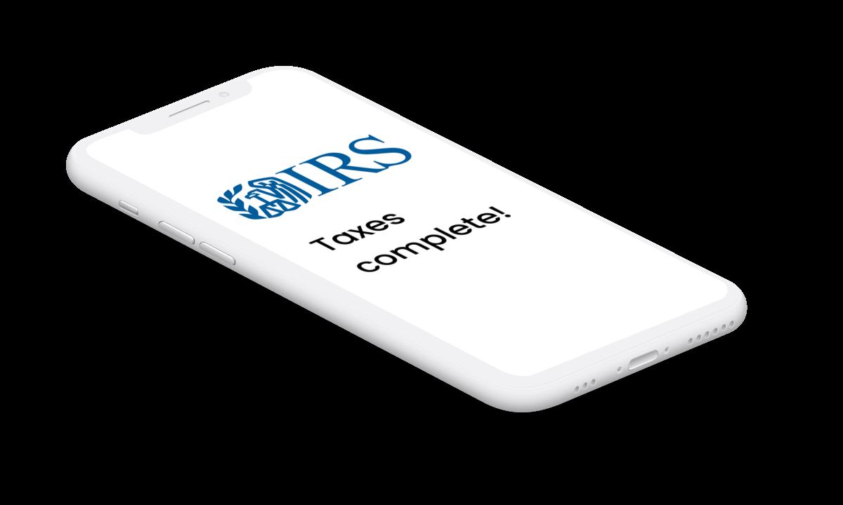 phone with IRS logo, Everlance tax vault
