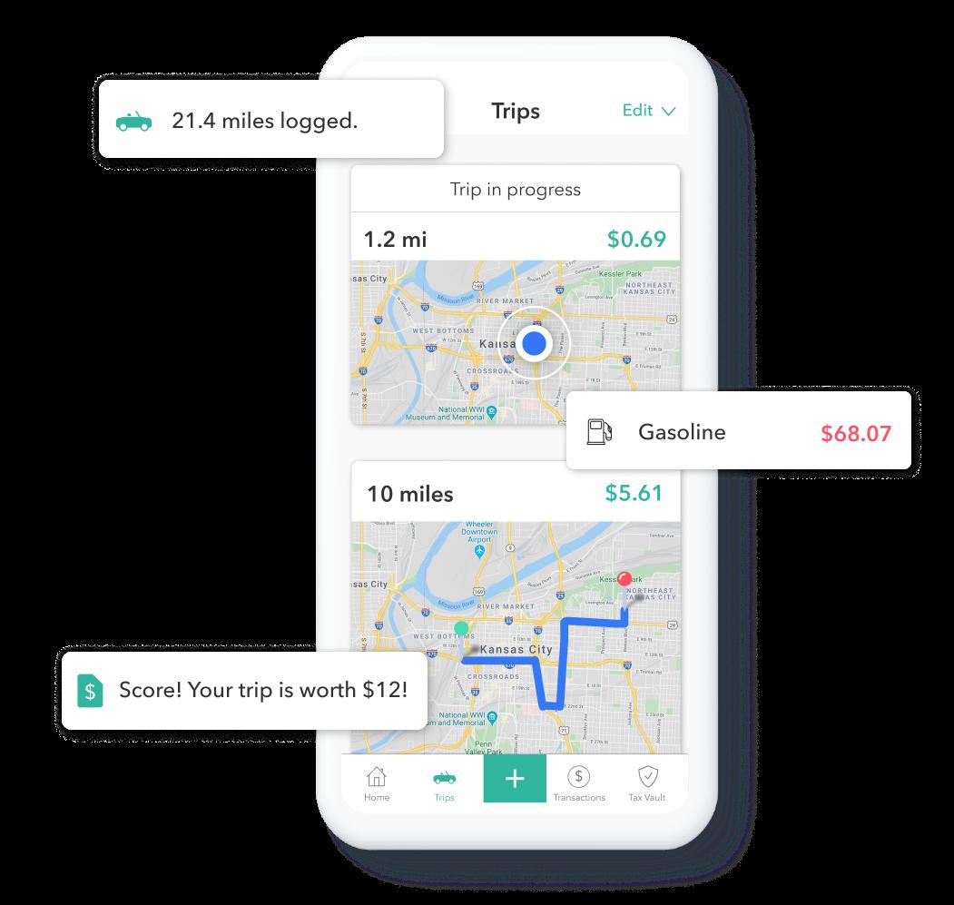 Everlance, mileage tracker app, expense tracking app
