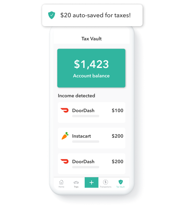 Everlance app showing tax deductions
