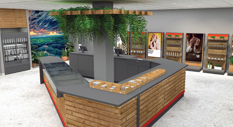A rendering of the store interior.
