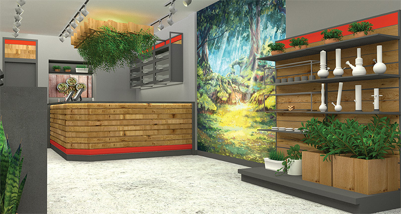 A rendering of our Danforth Ave store interior.