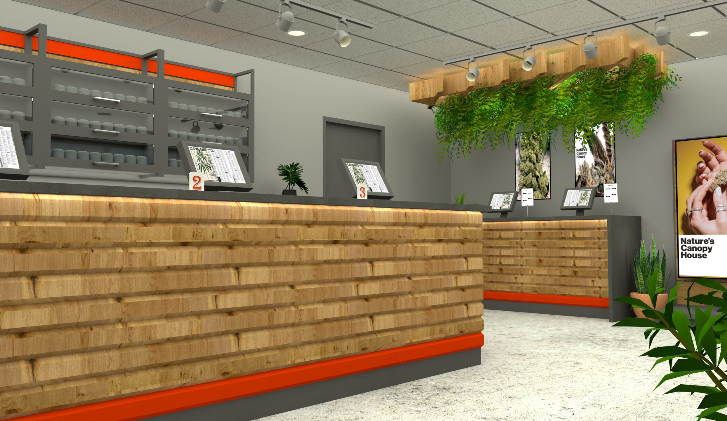 A rendering of our Oshawa store interior.