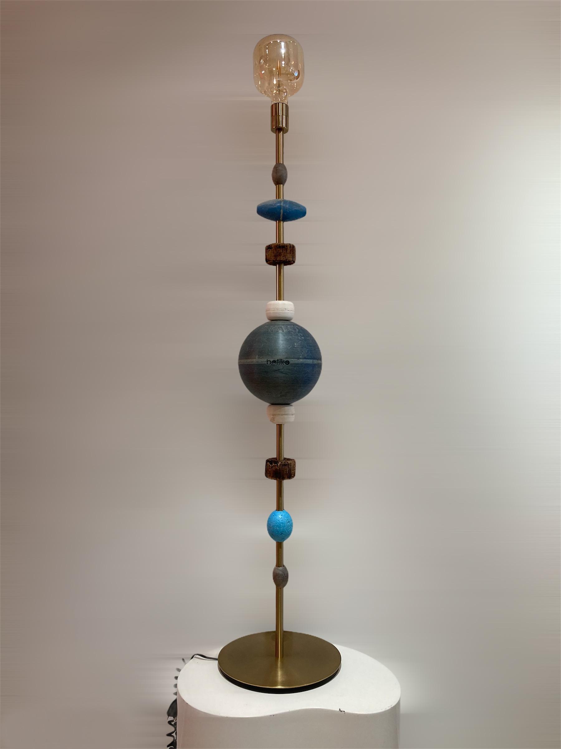 lampadaire lampe a poser betiko nouveauté bleu océan recyclage upcycling