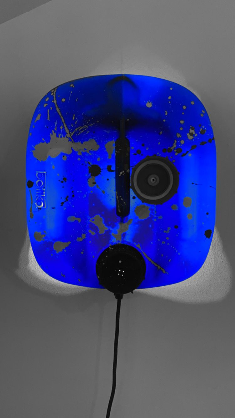 masque skull-tank betiko / 100 % recycled couleur bleu