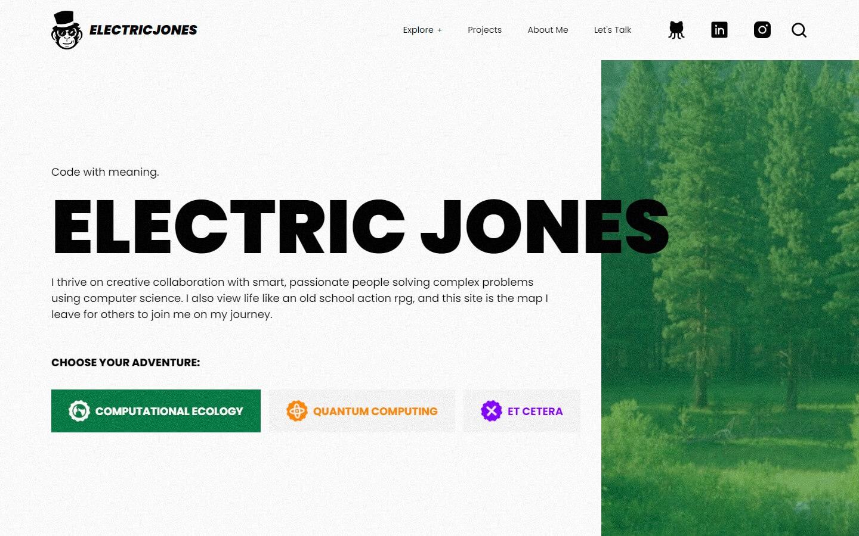 Electric Jones website hero