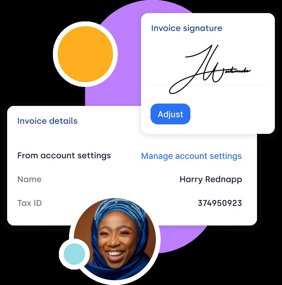 Invoice-signature
