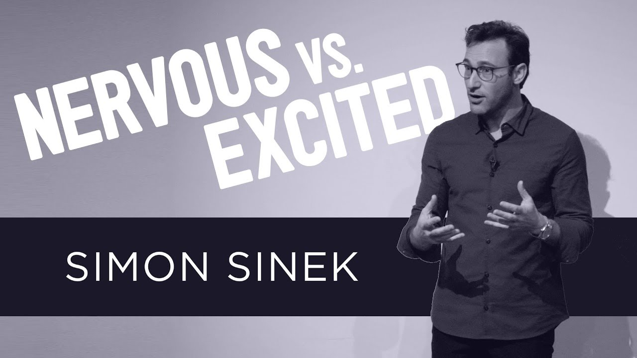 """A Youtube thumbnail of a person speaking, the words """"Simon Sinek"""" and the video title"""