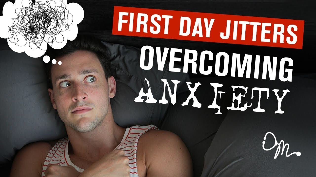 A Youtube thumbnail of an anxious person with scribbles inside a thought bubble and the video title