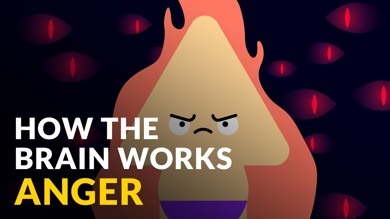 A Youtube thumbnail of an illustration of an angry cartoon shape on fire and the video title