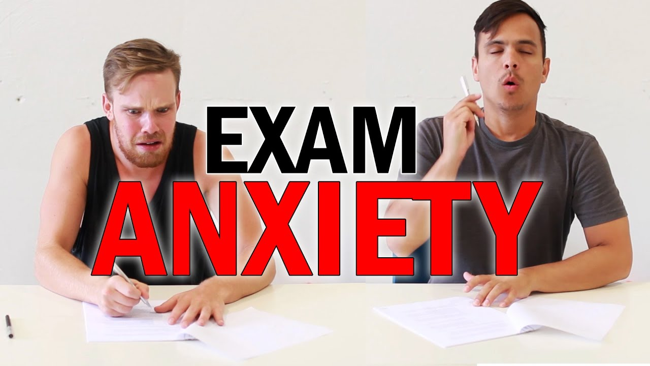 A Youtube thumbnail of two anxious people and the video title