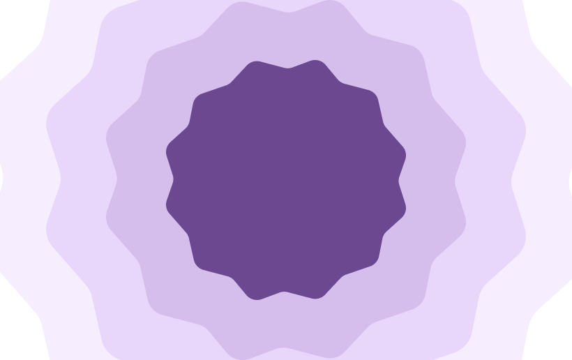 An illustration of jagged circles.