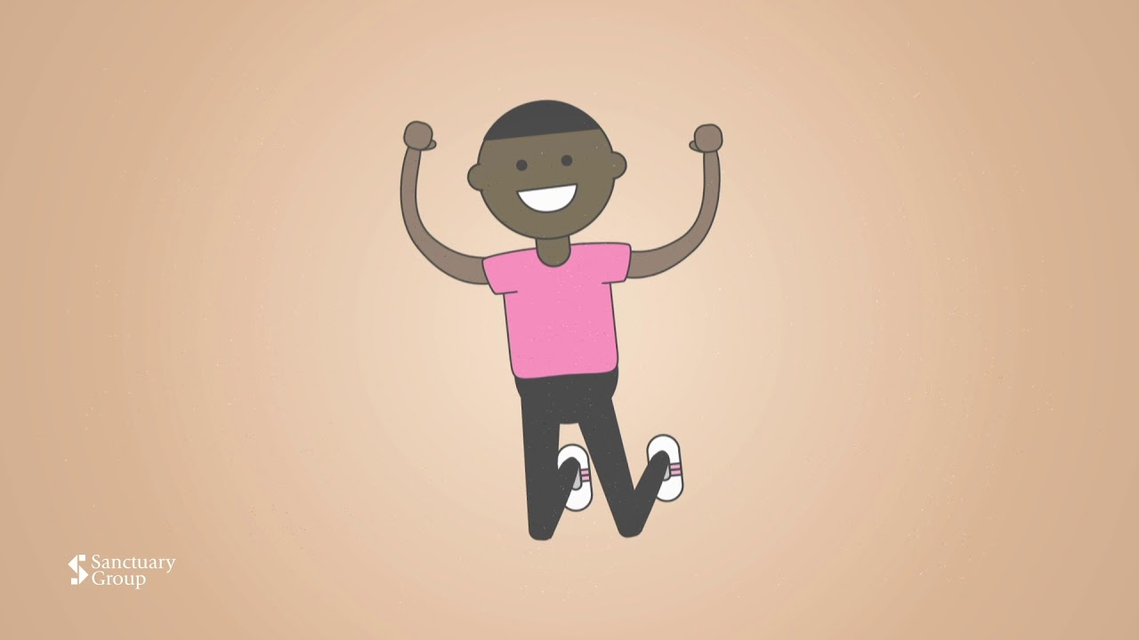 A Youtube thumbnail of an illustrated person jumping in the air
