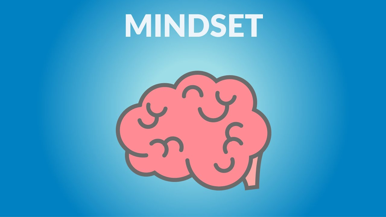 """A Youtube thumbnail of a brain illustration and the word """"Mindset"""""""