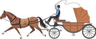 Man riding a horse and buggy | Carputty