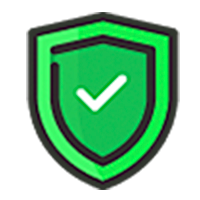 Green shield badge with a check mark