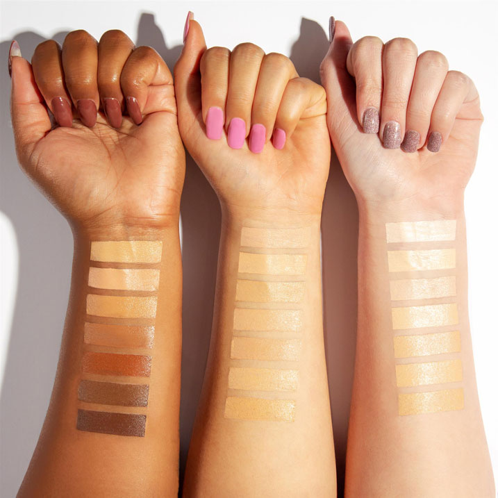 Visual Image of Makeup on arms of Avercast's Customer's product