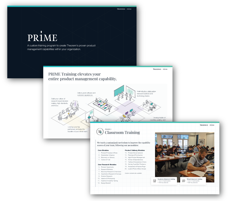 PRIME Executive Primer to Product Management Training