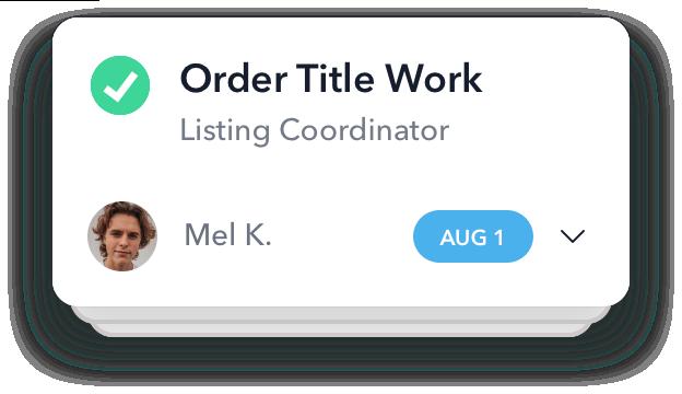 transaction manager completing order title work task