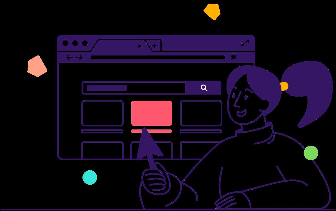Real estate agent software user illustration