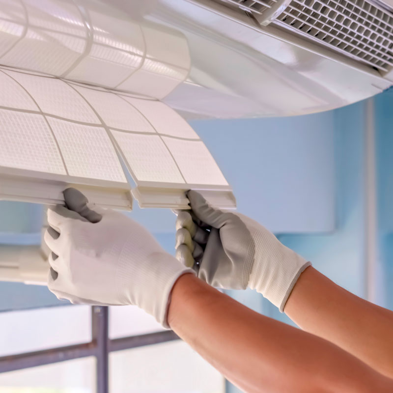 Repairs on an air conditioner system in Humble, TX.