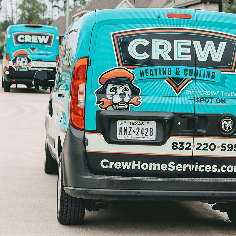 The Crew home services fleet.
