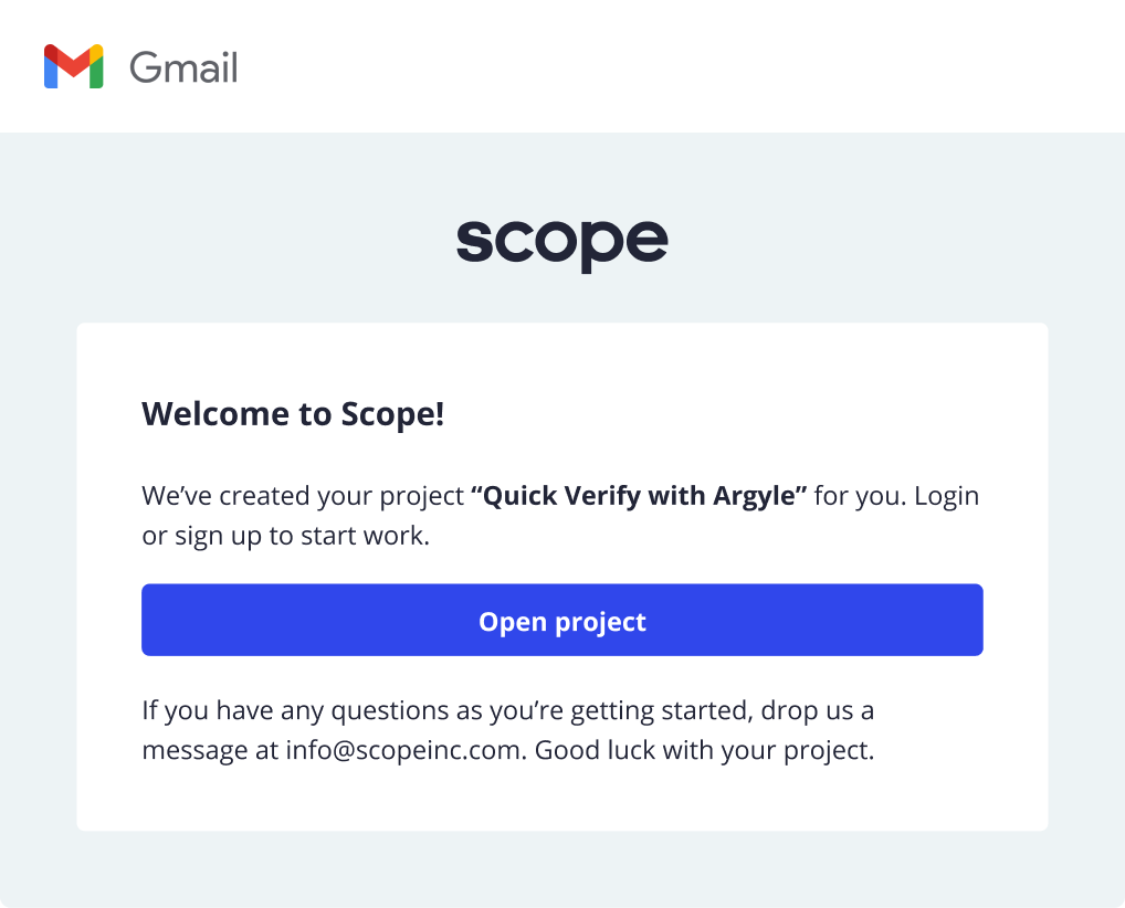 Verify Email - Scope