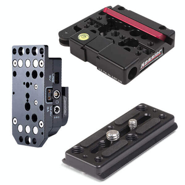 Mag Max 3A DeWalt Battery Adapter + Kwik Release Receiver V2 + Kwik Short Plate