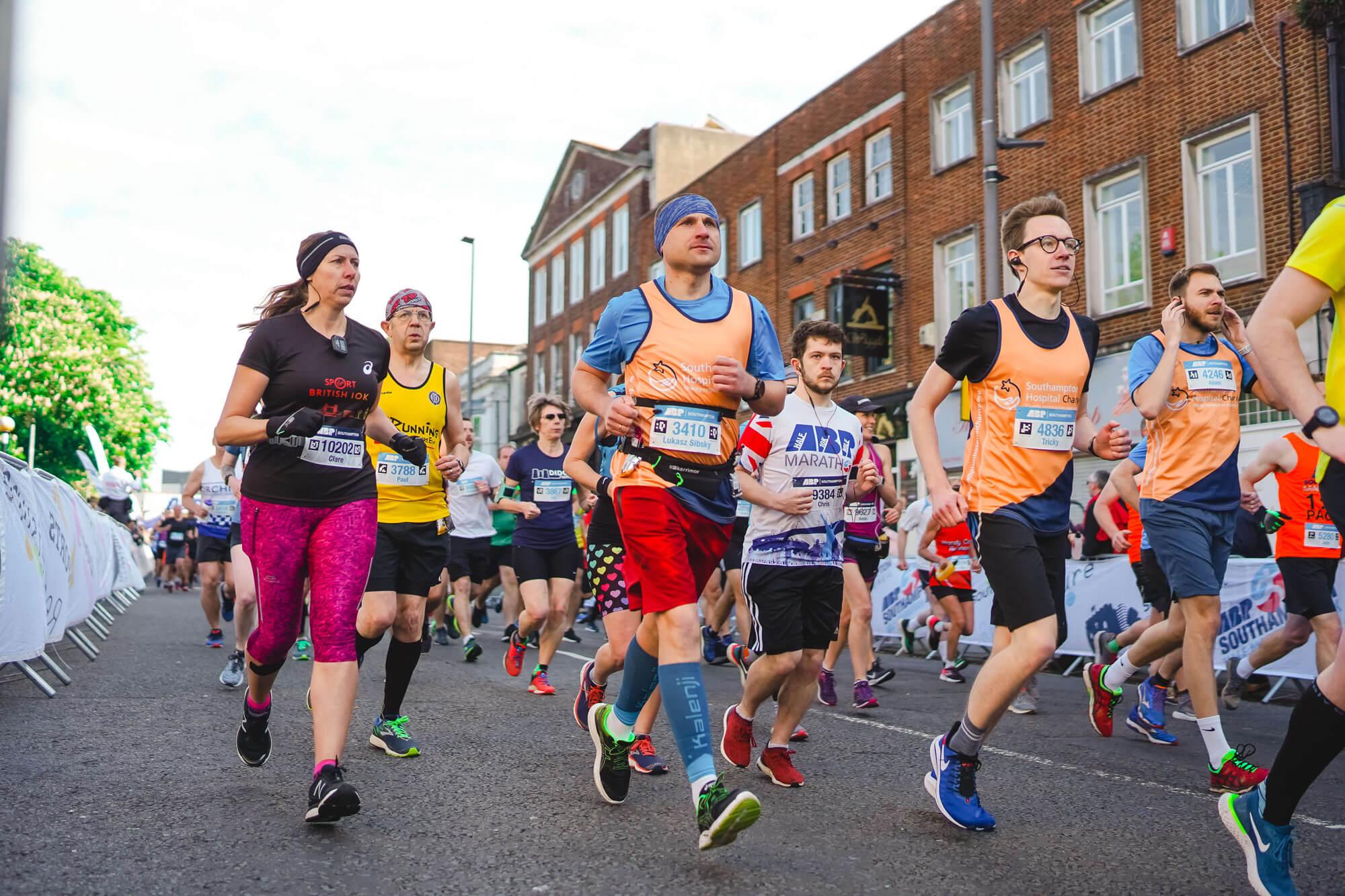 Runners running a race