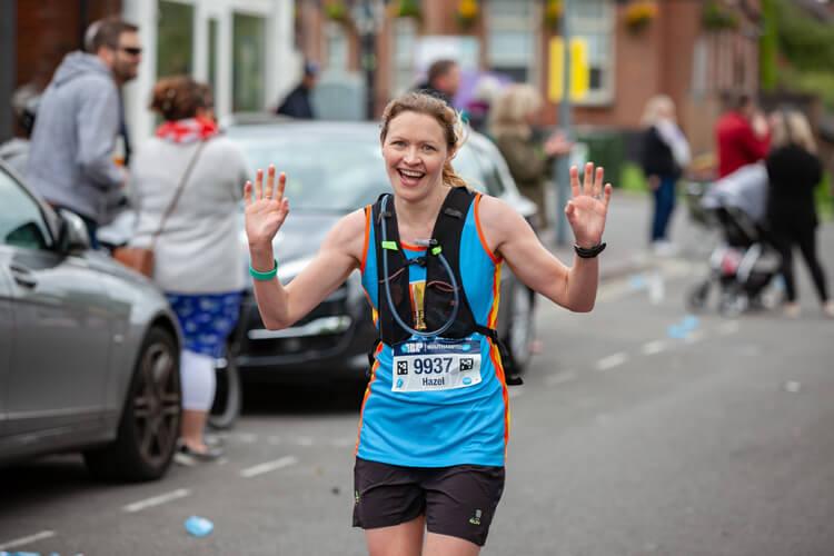 Marathon female runner